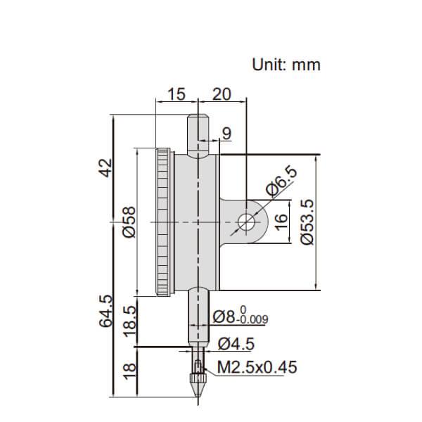Đồng hồ so cơ khí một vòng Insize 2316_2