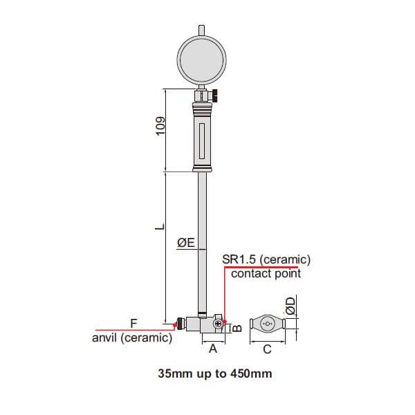Đồng hồ đo lỗ cơ khí Insize 2322_2