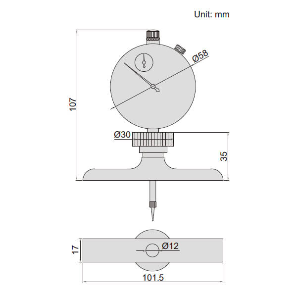 Thước đo sâu đồng hồ Insize 2342_2