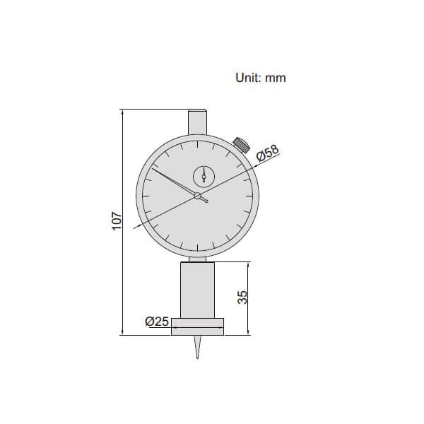Đồng hồ đo độ sâu Insize 2343_2