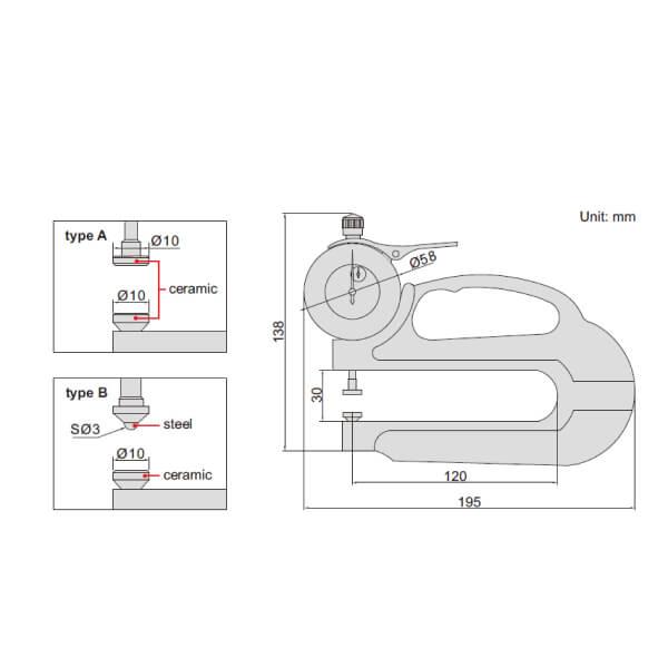Đồng hồ đo độ dày Insize 2365_2