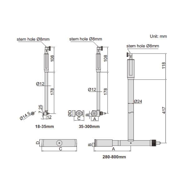 Dụng cụ đo lỗ Insize 2422_2