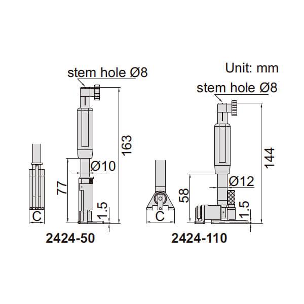 Dụng cụ đo lỗ kín Insize 2424_2