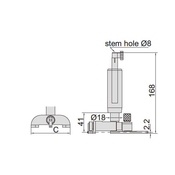 Dụng cụ đo lỗ kín Insize 2424_3