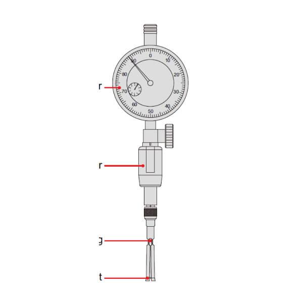 Đồng hồ đo lỗ kín kích thước nhỏ Insize 2427_2
