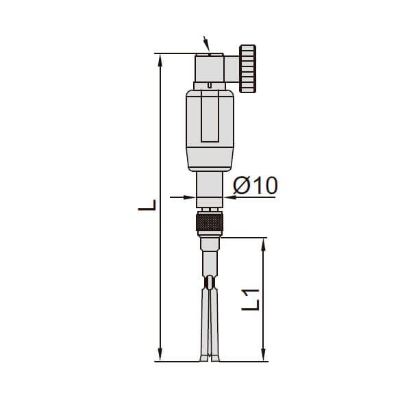 Set đồng hồ đo lỗ kín kích thước nhỏ Insize 2429_3