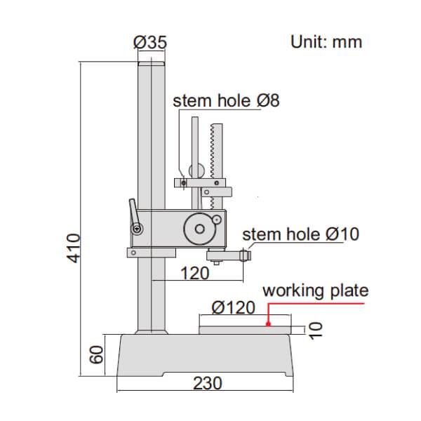 Đế gá đồng hồ đo lỗ kích thước nhỏ Insize 2491_2