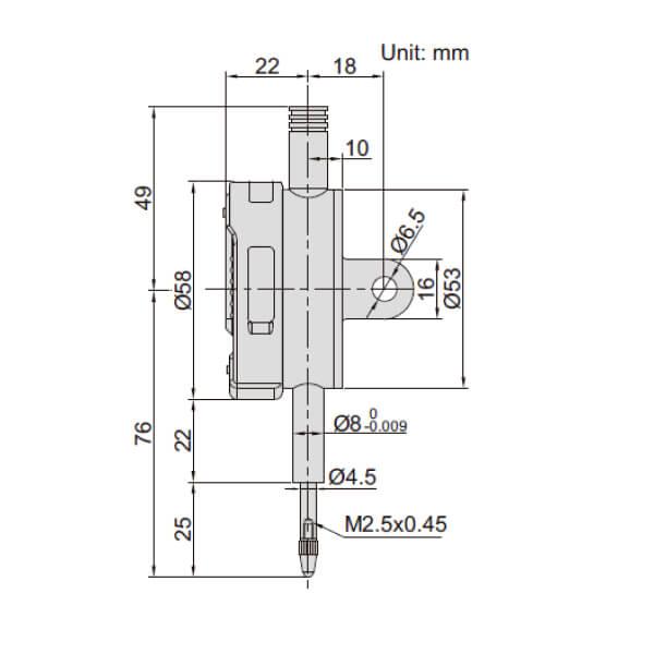 Đồng hồ so điện tử điều chỉnh được hệ số Insize 2501_2