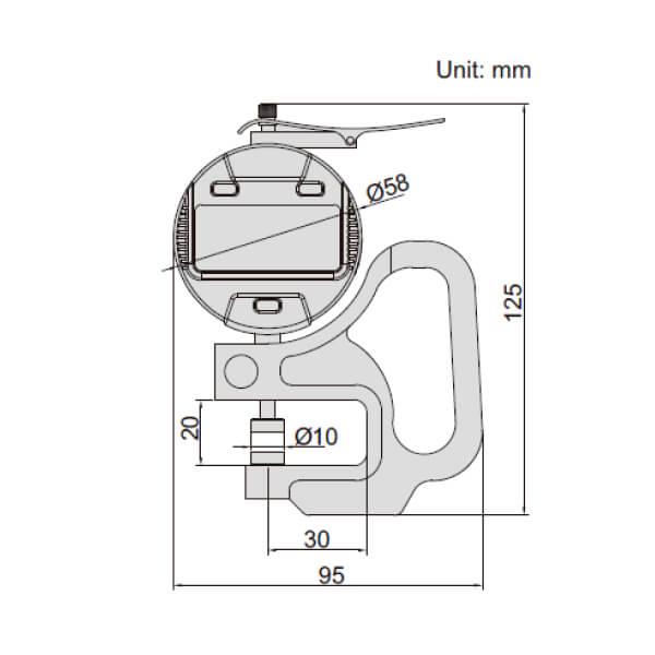 Đồng hồ đo dộ dày điện tử Insize 2871_2