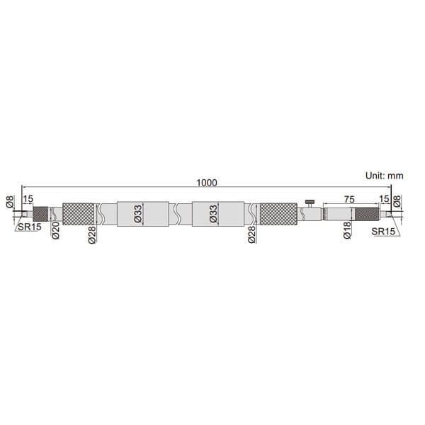 Panme đo ngoài dạng ống Insize 3224_3