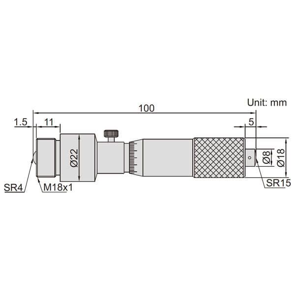 Panme đo ngoài dạng ống Insize 3225_3