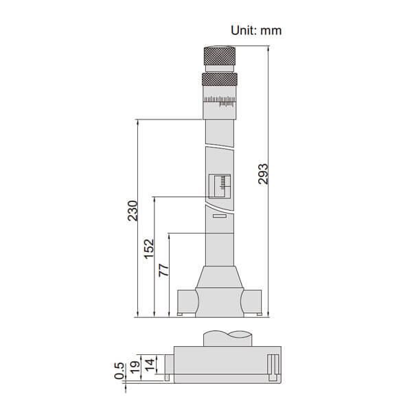 Panme đo trong 3 điểm Insize 3228_3