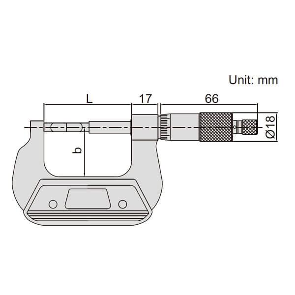 Panme cơ khí đo đường kính rãnh Insize 3232_3