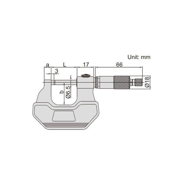 Panme đo ngoài Insize (cho cả người thuận tay trái và tay phải) 3236_3
