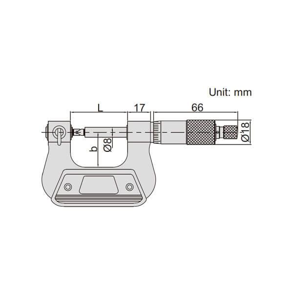 Panme cơ khí đo đường kính chân ren Insize 3281_3