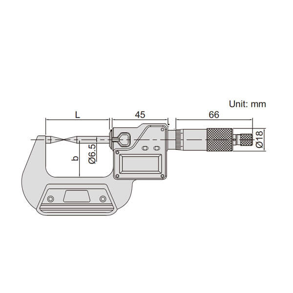 Panme điện tử đo điểm Insize 3530_3