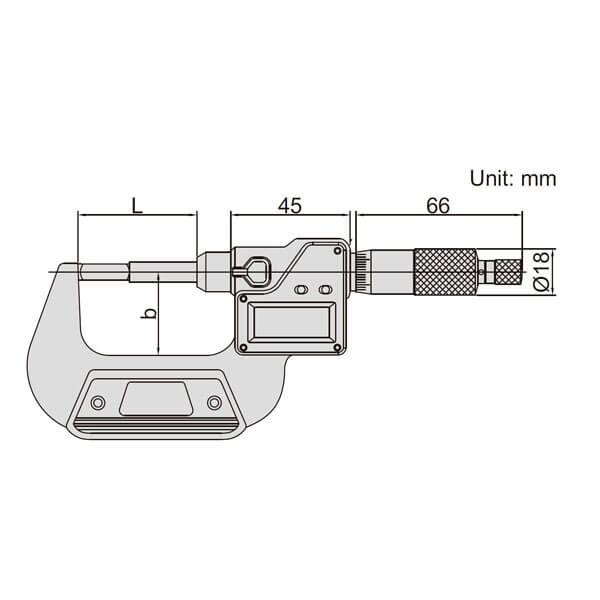 Panme điện tử đo đường kính rãnh Insize 3532_3