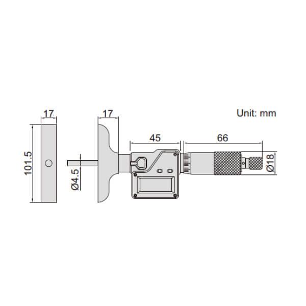 Panme đo sâu điện tử Insize 3540_2