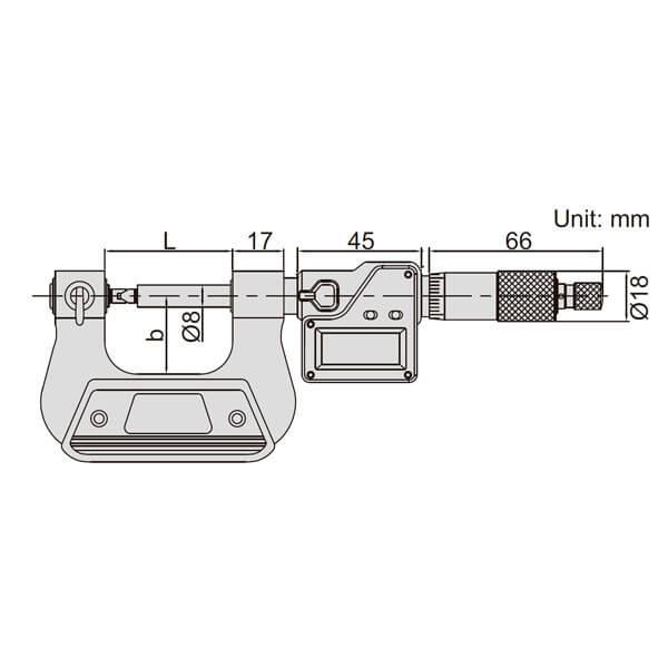 Panme điện tử đo đường kính chân ren Insize 3581_3