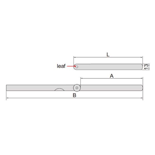 Set căn lá (loại dài) Insize 4605_2