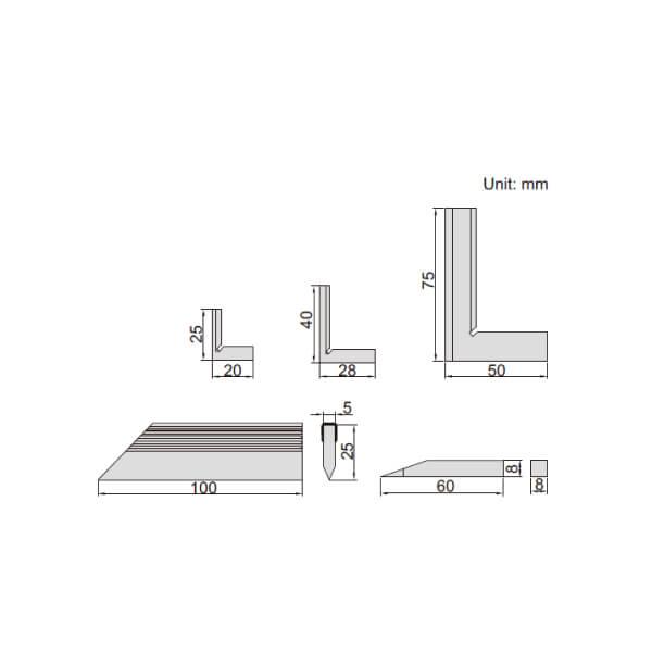Bộ thước đo góc vuông Insize 4702_3