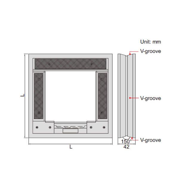 Thước thủy (nivo) khung Insize 4906_3