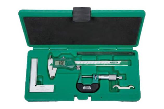 Bộ dụng cụ đo cơ khí chính xác 4 chi tiết Insize 5042