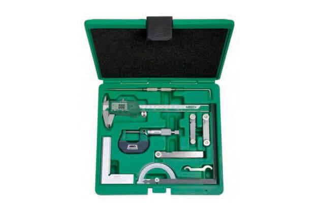 Bộ dụng cụ đo cơ khí chính xác 9 chi tiết Insize 5091