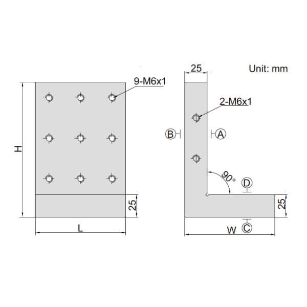 Khối căn góc phải Insize 6548_2