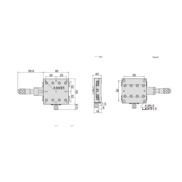 Đế chỉnh trục X Insize 6582_4