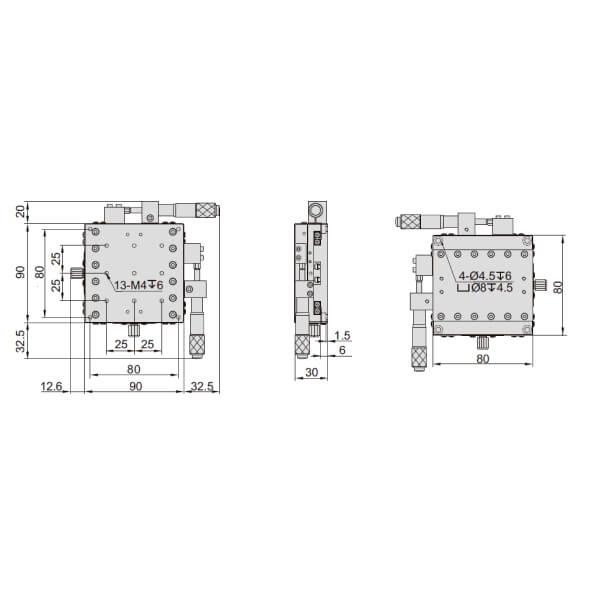 Đế chỉnh trục XY Insize 6584_6