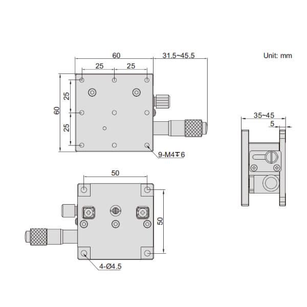 Đế chỉnh trục Z Insize 6586_2