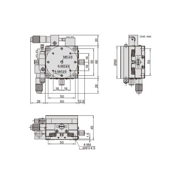 Đế xoay và chỉnh trục XY Insize 6588_2