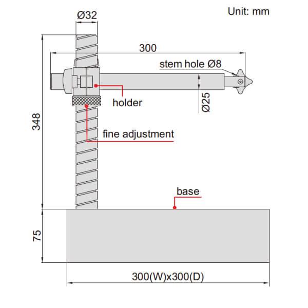 Đế gá đồng hồ so cơ khí mặt đá granit Insize 6867_2