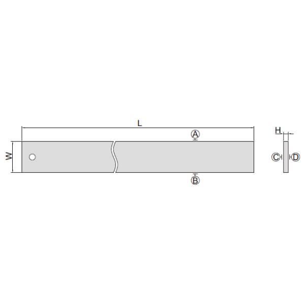 Thước đo độ thẳng vát cạnh chính xác Insize 7117_3