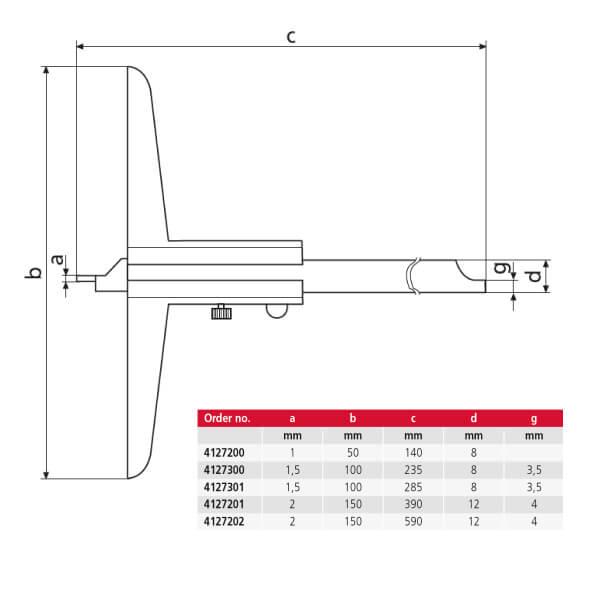 Thước đo sâu cơ khí MarCal 30 N_2