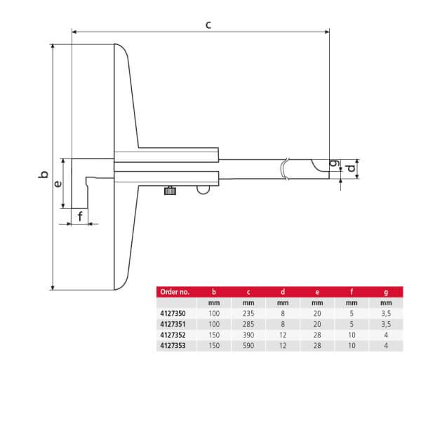 Thước đo sâu cơ khí MarCal 30 NH_2