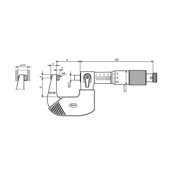 Panme cơ khí Micromar (hệ mét) 40 AR_3