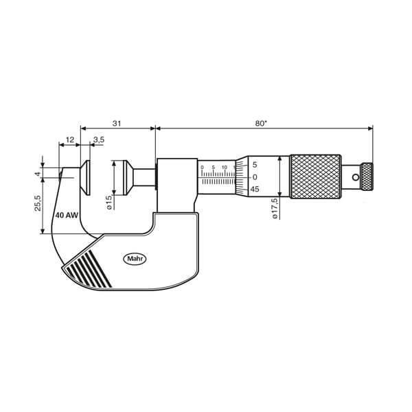 Panme cơ khí Micromar 40 AW_3