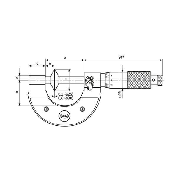 Panme cơ khí Micromar 40 SM_3