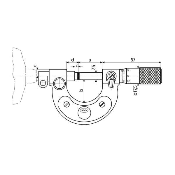 Panme đồng hồ chỉ thị kim Micromar 40 T_3