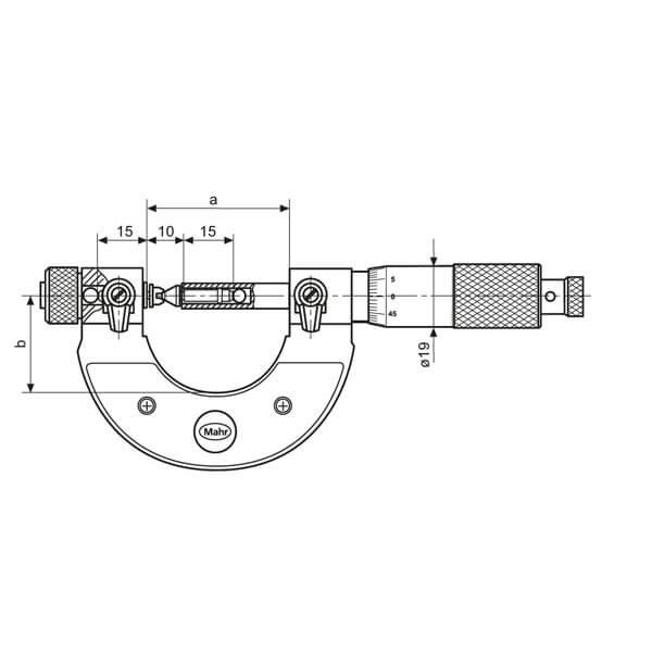 Panme cơ khí đo ren Micromar 40 Z_3