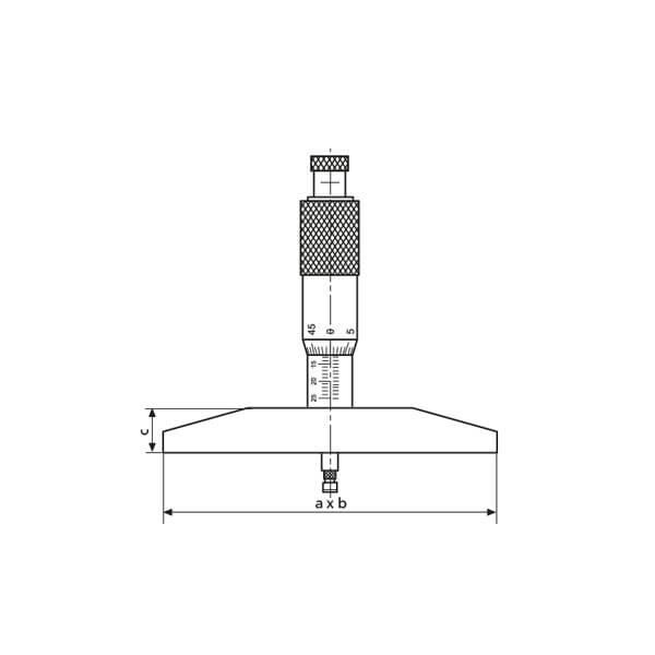 Panme cơ khí đo độ sâu Micromar 45 T_3