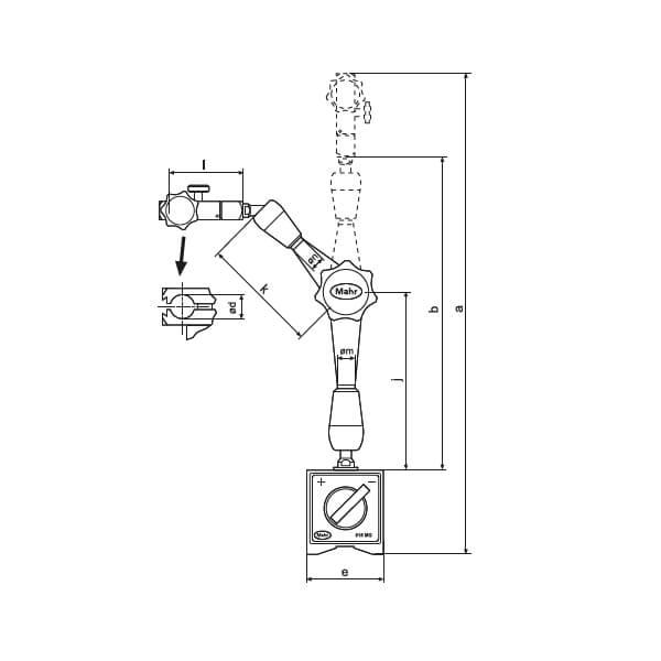Đế gá đồng hồ so với chân đế từ MarStand 815 MG 2_2