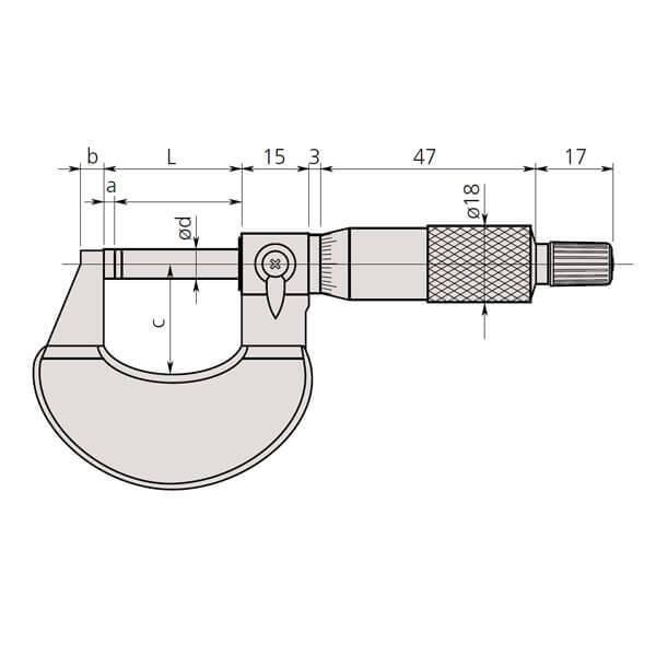 Panme cơ khí đo ngoài Mitutoyo 102_3