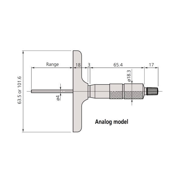 Panme đo sâu cơ khí Mitutoyo Series 129_2