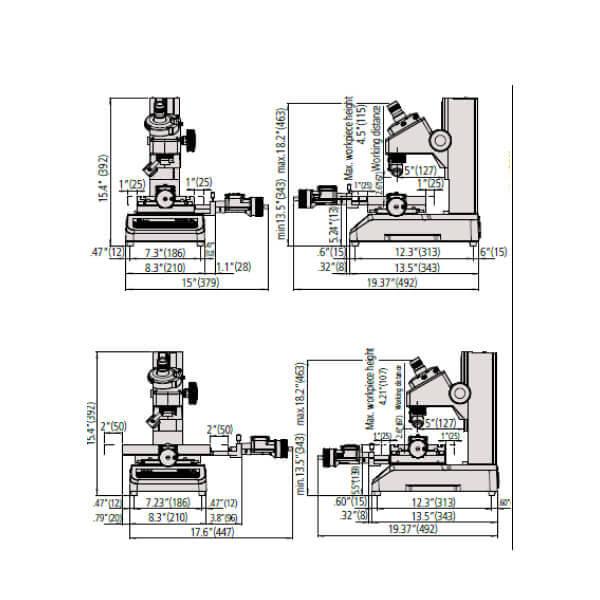 Kính hiển vi đo kiểm dụng cụ cắt Mitutoyo TM-505B/1005B_2