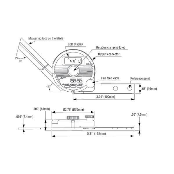 Thước đo góc điện tử vạn năng Mitutoyo 187_DUP_2