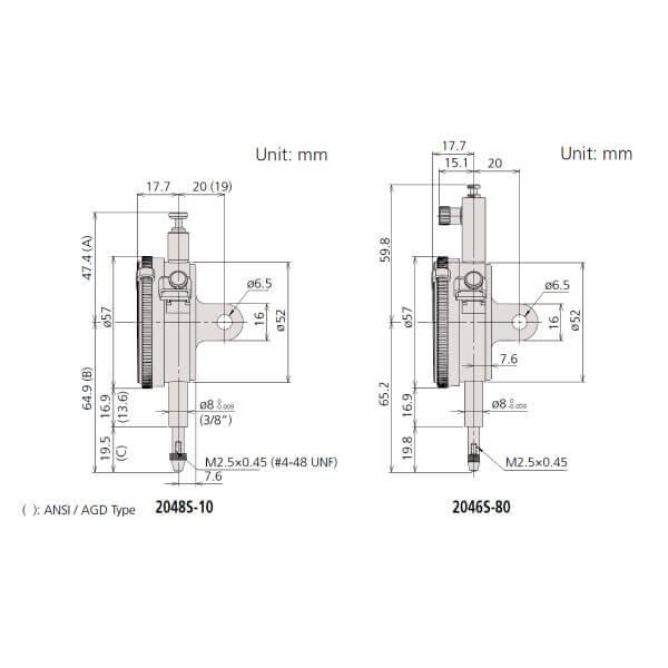 Đồng hồ so cơ khí Mitutoyo loại đặc biệt series 2_3