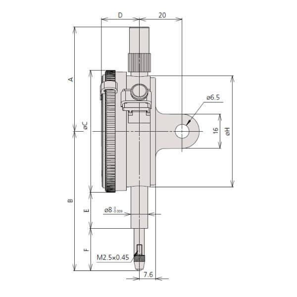 Đồng hồ so cơ khí một vòng Mitutoyo series 2_3